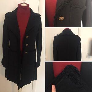 BOGO50%! St. John Caviar Designer Coat Black Sz 8